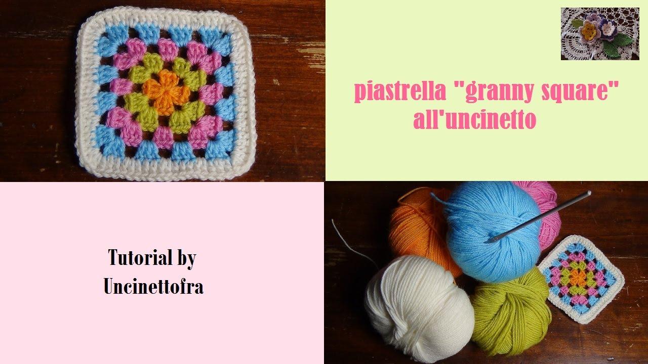 piastrella granny square alluncinetto tutorial  YouTube