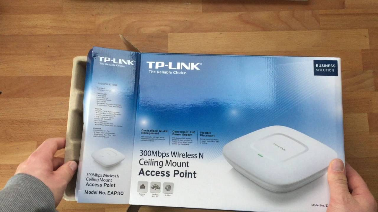 Ersteindruck Unboxing Tp Link Eap110 Wlan Youtube
