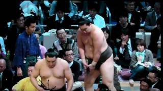 Baruto vs Toyonoshima (Day15 Kyushu-Basho 2009 Nov)