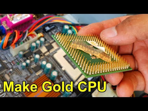 Make gold cpu computer. How to Recycle Gold omline form youtube. computer recycling.