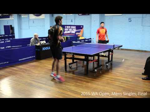 2015 Western Australian Table Tennis Open, Final