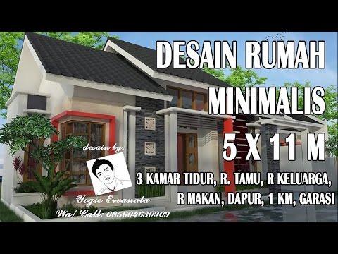DESAIN RUMAH MINIMALIS 5 X 11 3 KAMAR TIDUR YouTube