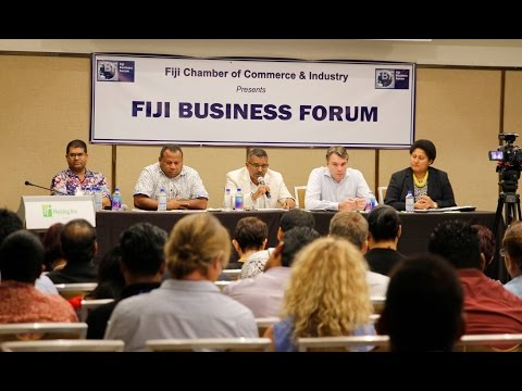 Fijian Ministers at the Panel Discussion for Fiji Business Forum 2016.