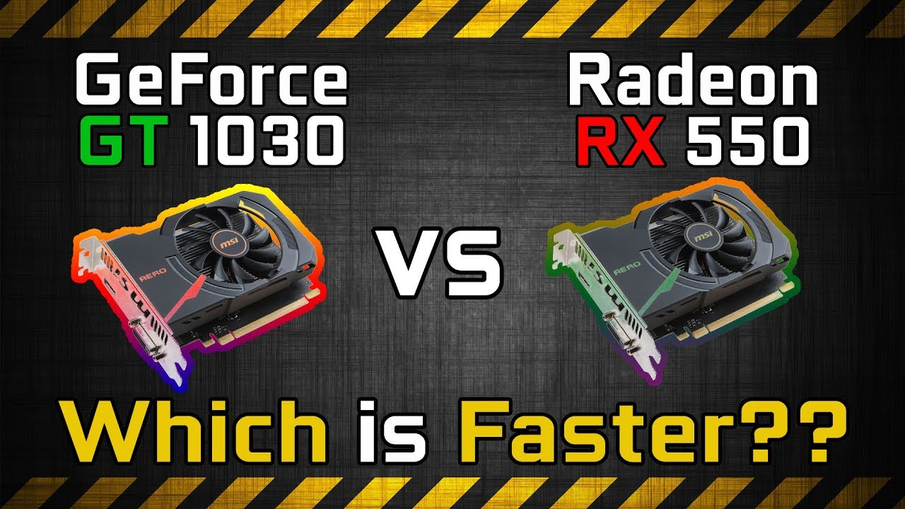 RX 550 vs GT 1030 Test in 7 Games | Gaming Benchmark Comparison