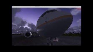 FSX Flight Cancun to Houston  I  United B737-900