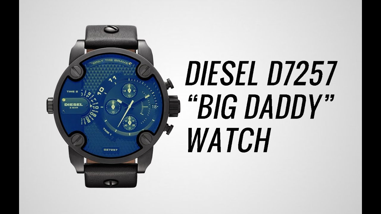 diesel big daddy dz7257 watch style 2016 09 29. Black Bedroom Furniture Sets. Home Design Ideas