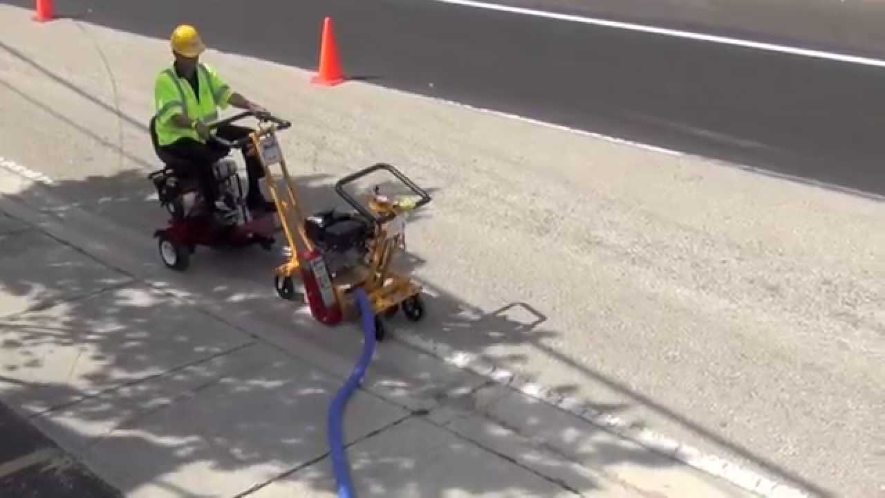 Prepare Road Surfaces Remove Pavement Markings Fast And