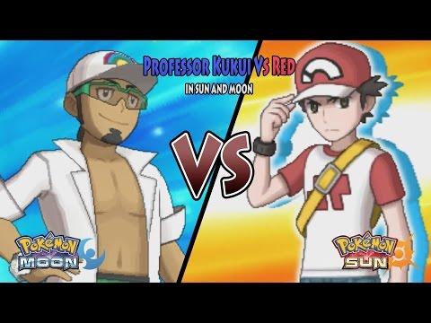 Pokemon Sun and Moon: Profesor Kukui Vs Red (Pokemon Battle Legend Red, Alola Red)