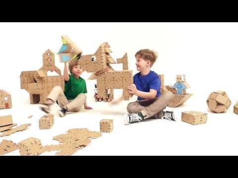Yohocube - cardboard construction set. DIY creative toy.