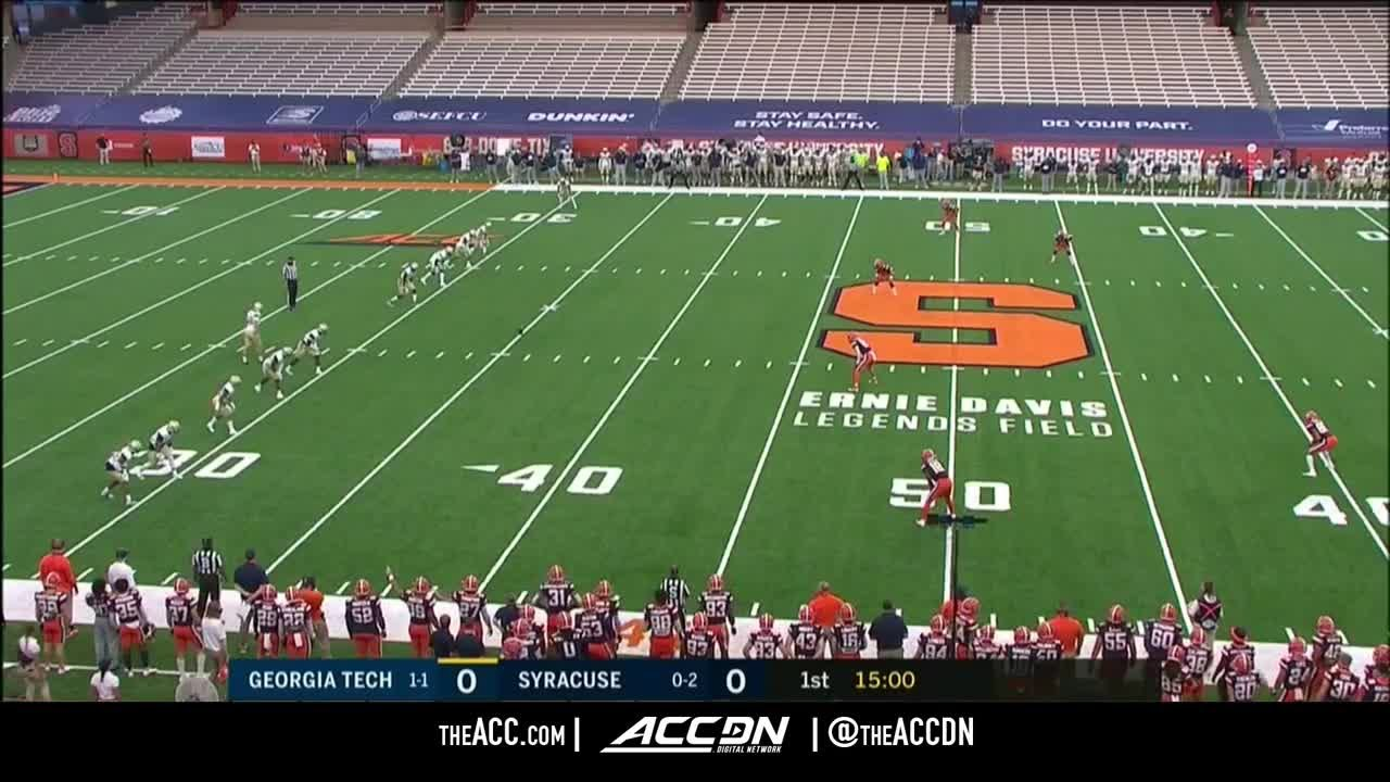 Miscues Prove Costly In Loss At Syracuse Football Georgia Tech Yellow Jackets