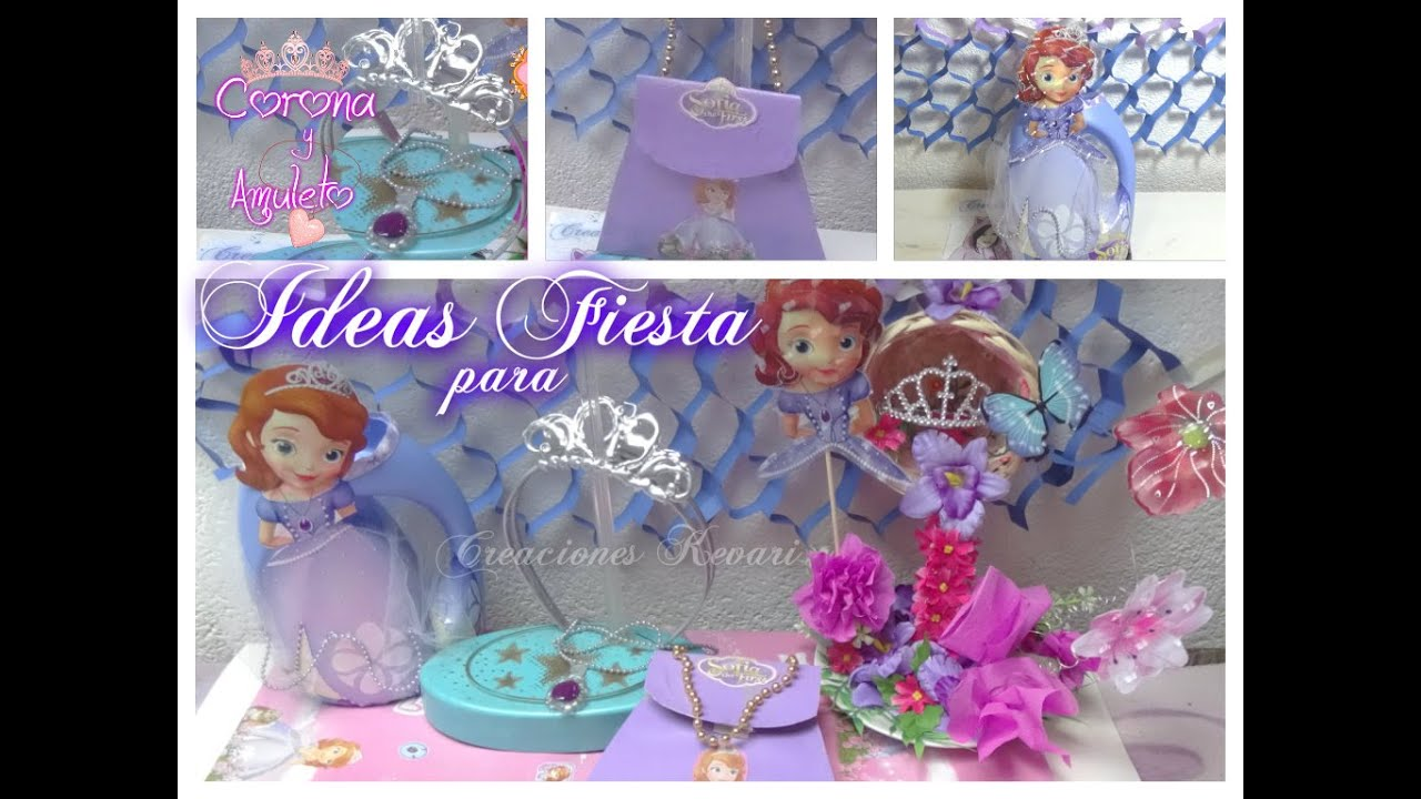 Ideas para Fiesta Princesa Sofia - YouTube
