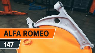 How to solve the problem with ALFA ROMEO rear and front Track control arm: video guide