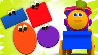 Bob Tren  şekiller Tren  3D Videos for Kids  Shapes Train