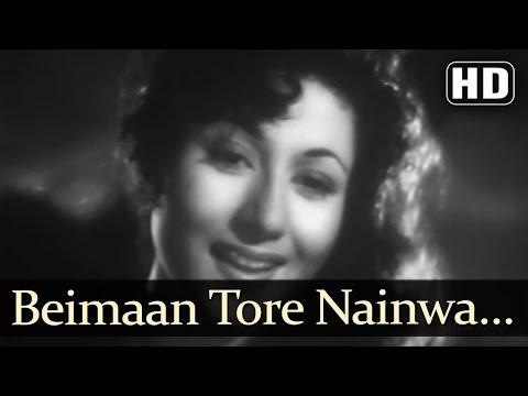 Beimaan Tore Nainwa - Tarana Song - Dilip Kumar - Madhubala - Lata Mangeshkar
