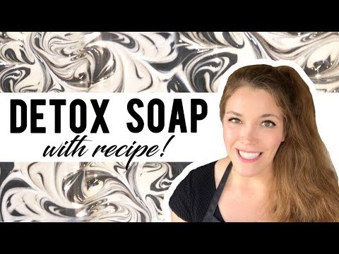Detox Activated Charcoal Soap | Cold Process Soap Recipe | Space City Soaps