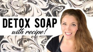 Detox Activated Charcoal Soap  Cold Process Soap Recipe  Space City Soaps