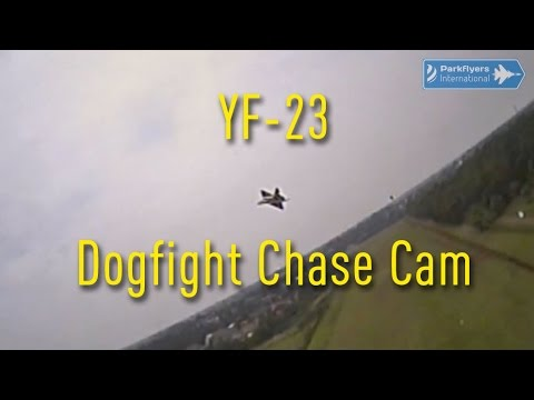 Parkflyers International Shortie Video: Northrop YF-23 Dogfight Chase Cam