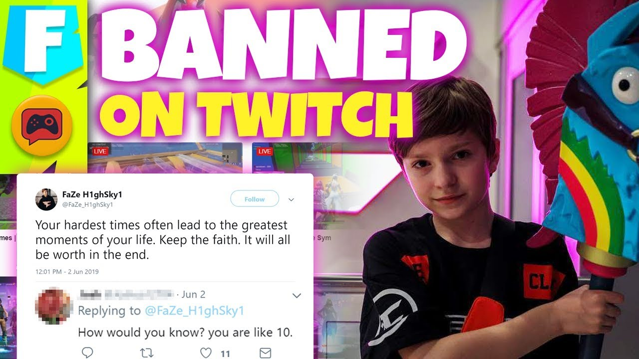 FaZe H1ghSky1 Banned on Twitch and YouTube Says No More Minors