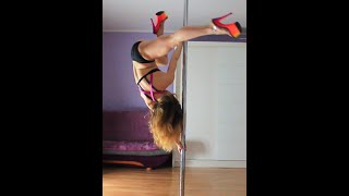 Pole Dance Freestyle In Heels