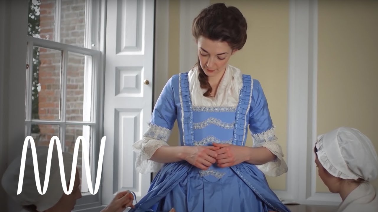 Getting Dressed In The 18th Century Youtube