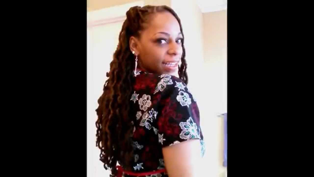 Faux Locs How To Make Them Wavy Youtube