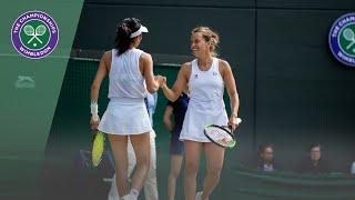 Timea Babos/Kristina Mladenovic v Su-Wei Hsieh/Barbora Strycova Wimbledon 2019 semi-final highlights