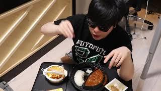 納豆とカレー食いながらいろいろと 今日はNHK