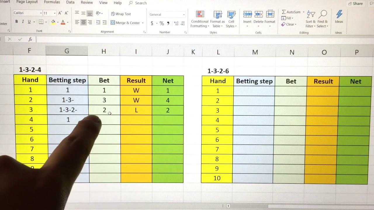 1-3-2-4 betting system blackjack