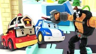 Игрушки для детей. Робокар Поли, Эмбер и Рой против злодеев!