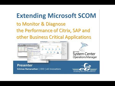 Extending Microsoft SCOM to Monitor & Diagnose the performan