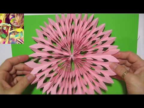 DIY Сделать Новогодние игрушки подарки просто Объемные снежинки из бумаги Поделки своими руками