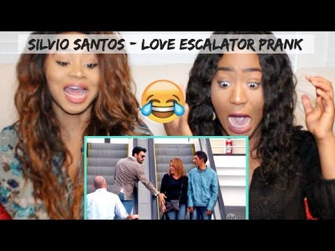 *HILARIOUS* Sisters React to Love Escalator Prank 2 by Silvio Santos Brazilian Prank
