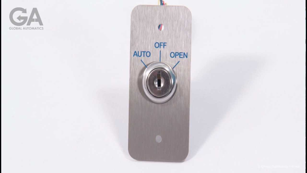 Automatic doors 3 Position Key Switch YouTube