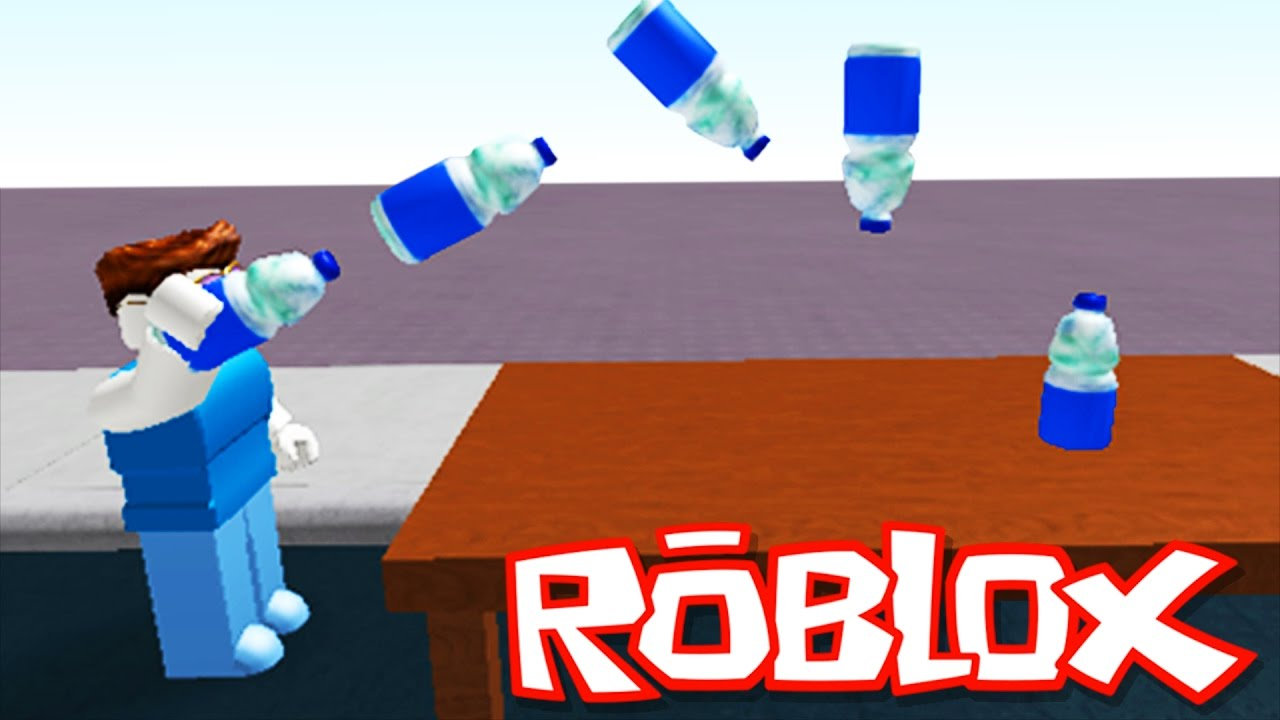Bottle Flip Challenge In Roblox Youtube Youtubecom Roblox Bottle Flip Challenge Youtube