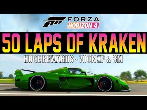 Forza Horizon 4 - Huge 500 Mile Race! - INSANE REWARDS + WHEELSPINS thumbnail
