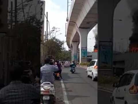Hyderabad car blast on Tarnaka flyover