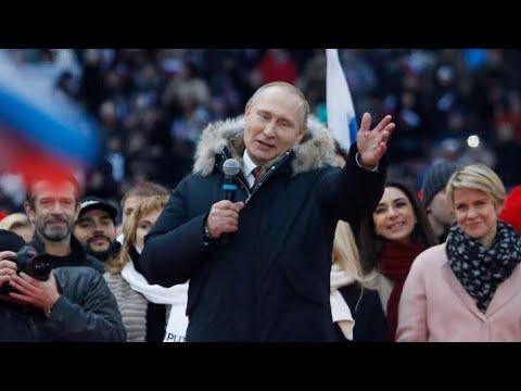 Акция сторонников Путина в Лужниках