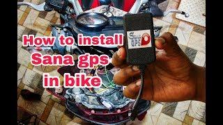 How to Install Sana GPS Tracker to Bike
