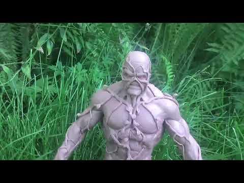 """""""Болотная Тварь"""" / """"Swamp Thing"""" Скульптура из пластилина Monster Clay, смотреть онлайн бесплатно"""
