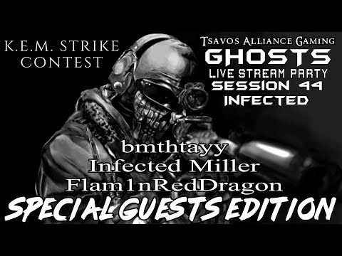☢GHOSTS: Infected - Session 44 (Xbox 360 Server) K.E.M. STRIKE CONTEST