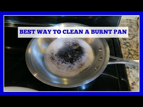 How To Clean A Stainless Steel Burnt Pan Or Pot Easy