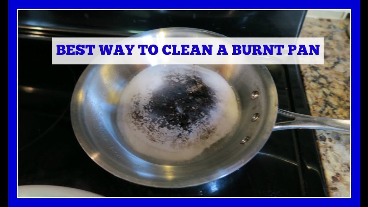 how to clean a stainless steel burnt pan or pot easy method youtube. Black Bedroom Furniture Sets. Home Design Ideas