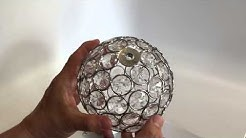 Hoont Sparkling Crystals Gazing Ball with Solar Powered Color Changing LED Light - Unboxing