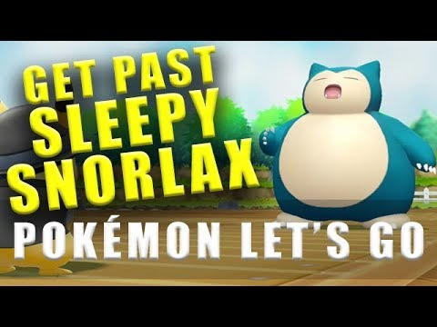 Pokemon Lets Go How To Get Past The Sleeping Snorlax