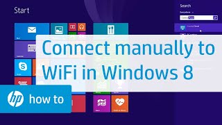 Connecting Manually to a Wireless Network in Windows 8