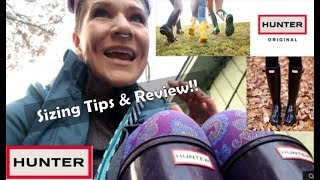 Hunter Boots Sizing Tips & Review!!