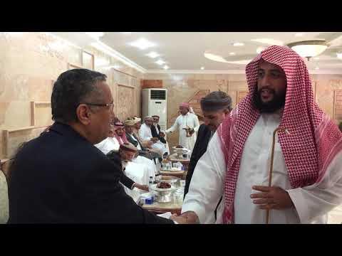الشيخ عبدالعزيز بن عبدالله العقيلي الخالدي يرحب برئيس الوزراء اليمني .