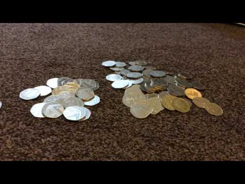 Coin Roll Hunt for Kew Gardens 50p 06/07/2017