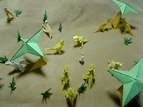 Stop Motion Origami Dinosaurs - YouTube - photo#19