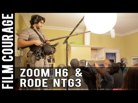 Recording Sound with a Zoom H6 and Rode NTG3 on a Movie Set by Justin Arbabi